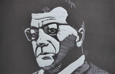 Peter Weiss, Linolschnitt, 2017, 20x30cm