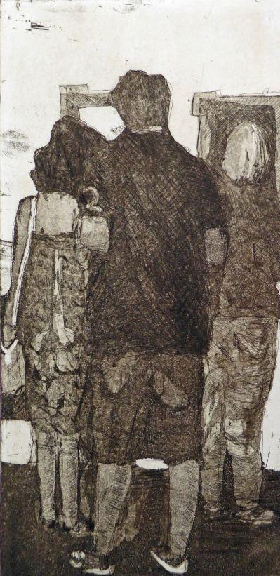 MoMA 1, Aquatinta, Radierung, Kaltnadel, 2015, 30x15cm