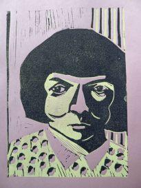 Inger Christensen, Linolschnitt (verlorene Platte), 2016, 30x20cm