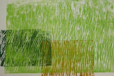 Bladersbach, Holzschnitt, 3 Platten, 2006, ca. 30x40cm