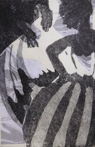 Aquatinta, Collage, 15x10cm, 2018