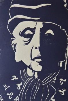 Anette Kolb, Linolschnitt 2019, 15x20cm